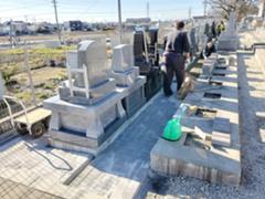 新墓地区画の外構工事